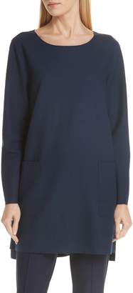 Eileen Fisher Boxy Boiled Wool Tunic
