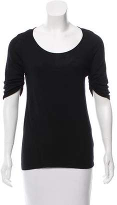 Narciso Rodriguez Wool Thee-Quarter Sleeve Top