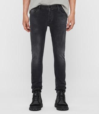 AllSaints Cigarette Skinny Jeans, Washed Black