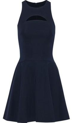 Cushnie Valentina Flared Cutout Ponte Mini Dress