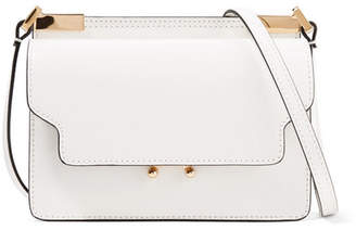 Marni Trunk Micro Leather Shoulder Bag - White