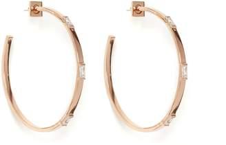 Vince Camuto Rose Goldtone Baguette Hoop Earrings