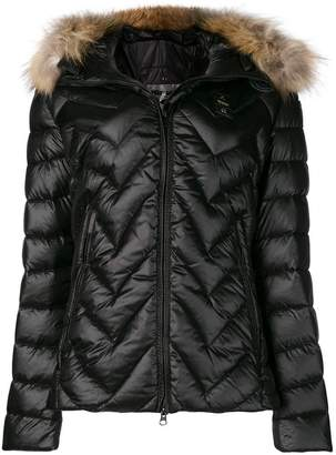 Blauer fur hooded padded coat