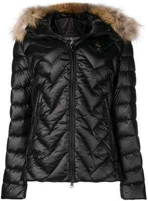 Blauer fur hooded padded coat