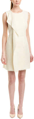 Oscar de la Renta Silk-Lined Wool-Blend Shift Dress