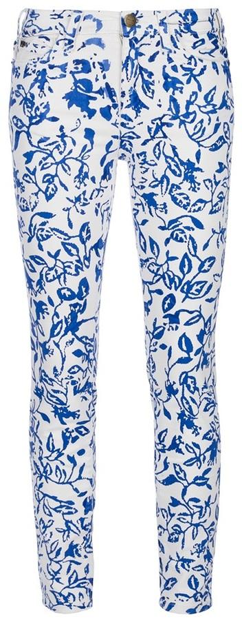 Diane Von Furstenberg And Current Elliott printed skinny jean