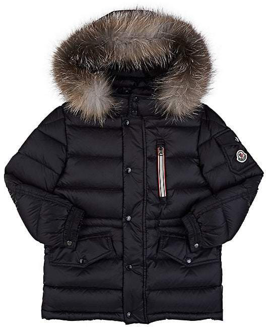 Kids' Fur-Trimmed Down-Quilted Hooded Parka