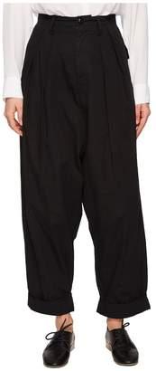 Yohji Yamamoto Y's by A-2 Tuck Hem Mackin P Cuffed Pants Women's Casual Pants