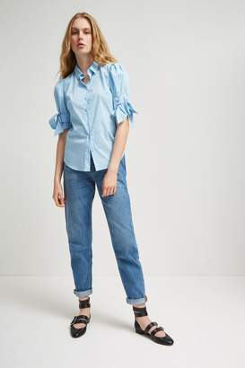 Fcus Eastside Cotton Bow Shirt