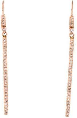 Couture Sethi 14K Diamond Vertical Bar Drop Earrings
