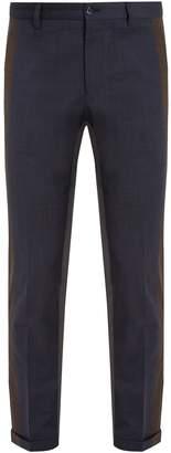 Dolce & Gabbana Tri-colour tapered-leg trousers