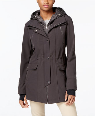 Nautica Quilted Hooded Layered Anorak Raincoat $180 thestylecure.com