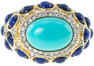 Kenneth Jay Lane KJL BY KJL by Gold-Tone Aqua & Blue Stone Ring