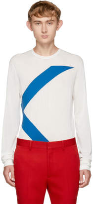 Calvin Klein White Long Sleeve Logo T-Shirt