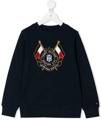 Tommy Hilfiger Junior logo printed sweatshirt