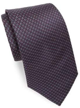 Brioni Narrow Floral Silk Tie