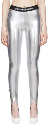 Paco Rabanne Silver Elasticized Stirrup Leggings