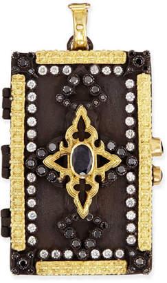 Armenta Old World Enhancer with White and Black Diamonds