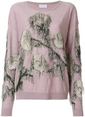 Christian Wijnants fringed embroidered sweater