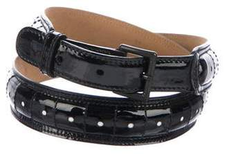 Alaia Patent Leather Belt