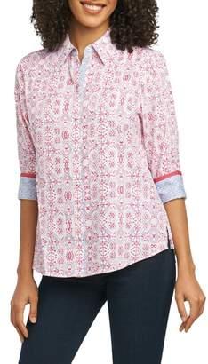 Foxcroft Ava Tile Print Shirt