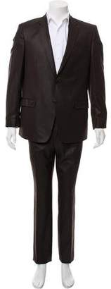 Versace Pinstriped Two-Button Suit