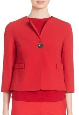 Piazza Sempione Cady Cropped One-Button Jacket