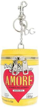 Dolce & Gabbana can motif keychain