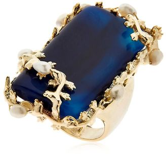 Amuleto Blue Agate Ring $278 thestylecure.com