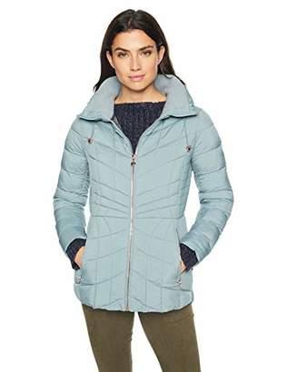 Bernardo Women's Packable Zip Puffer Jacket with Rose Gold Hardware