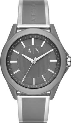 Armani Exchange A|X Drexler Polyurethane Strap Watch, 44mm