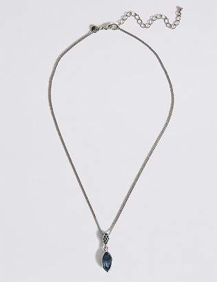 Marks and Spencer Pavé Drop Necklace With Swarovski® Crystals