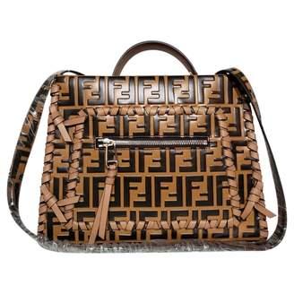 Fendi Runaway Camel Leather Handbag