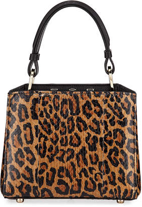 VBH Seven 20 Leopard-Print Snakeskin Top-Handle Bag