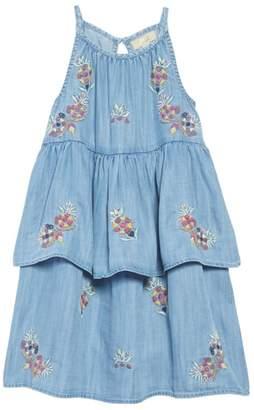 Peek Kimber Embroidered Chambray Dress