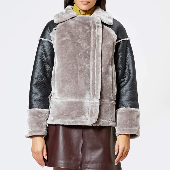 Women's Faux Fur Biker Jacket