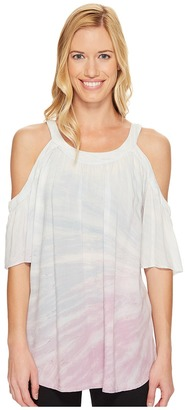 Hard Tail - Cold Shoulder A-line Top Women's Workout $72 thestylecure.com