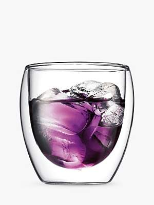 Bodum Pavina Glass Double Wall Cups, Set of 2, 0.25L