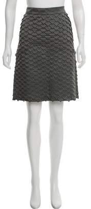 Basso & Brooke Textured Knit Knee-Length Skirt