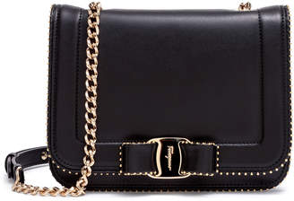 Salvatore Ferragamo Vara Rainbow black leather shoulder bag