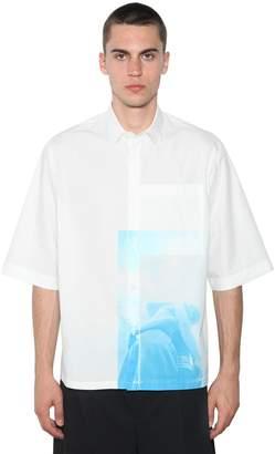 Jil Sander Silence Print Ss Cotton Shirt