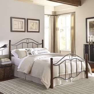 Leggett & Platt Fashion Bed Group Cassidy Complete Bed with Dark Walnut Wood Posts, Multiple Sizes