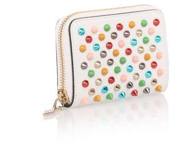 Christian Louboutin  Christian Louboutin Panettone white multi-spikes coin purse