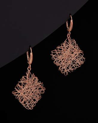 Meshmerise 14K Italian Rose Gold Filigree Earrings