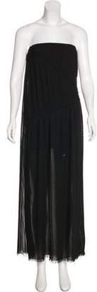 Acne Studios Pleated Strapless Dress
