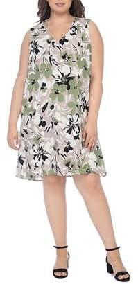 Bobeau B Collection by Curvy Iban Floral-Print Shift Dress