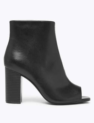Marks and Spencer Peep Toe Block Heel Ankle Boots