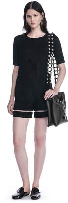 Alexander Wang High Waisted Shorts With Fishline Trim