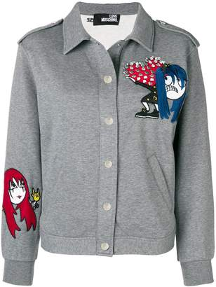 Love Moschino embroidered fitted jacket