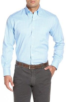 Men's Peter Millar 'Nanoluxe' Regular Fit Wrinkle Resistant Twill Check Sport Shirt $125 thestylecure.com